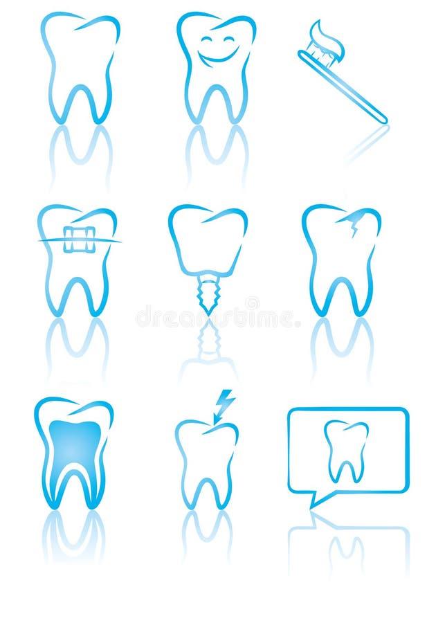 牙齿符号 皇族释放例证