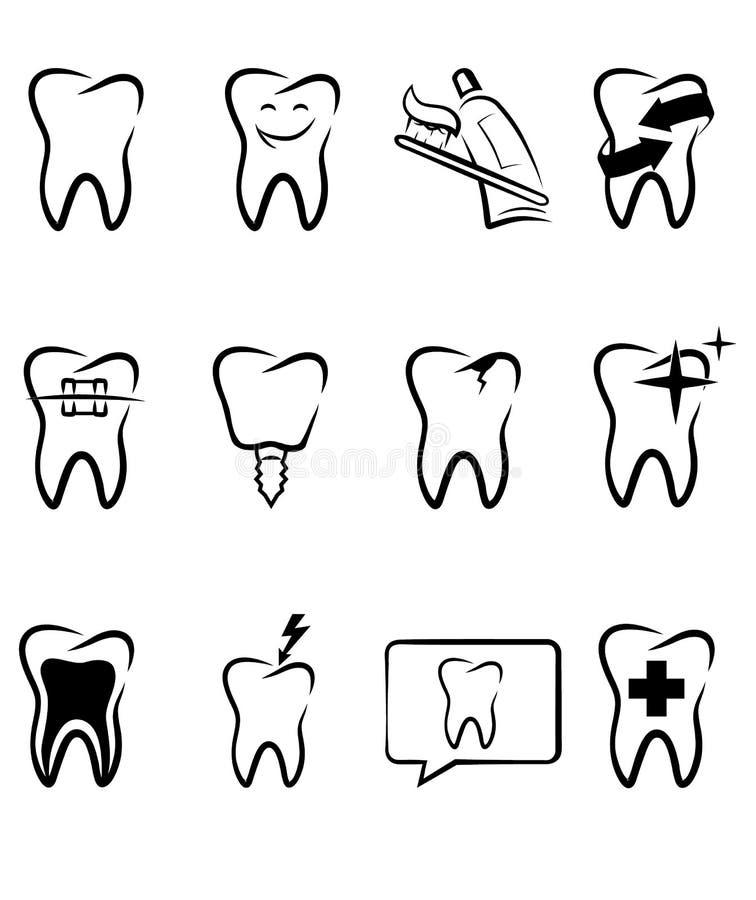 牙齿符号 库存例证
