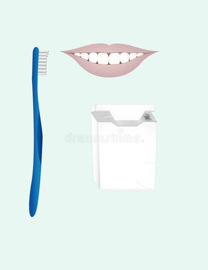 牙齿艺术的夹子 图库摄影