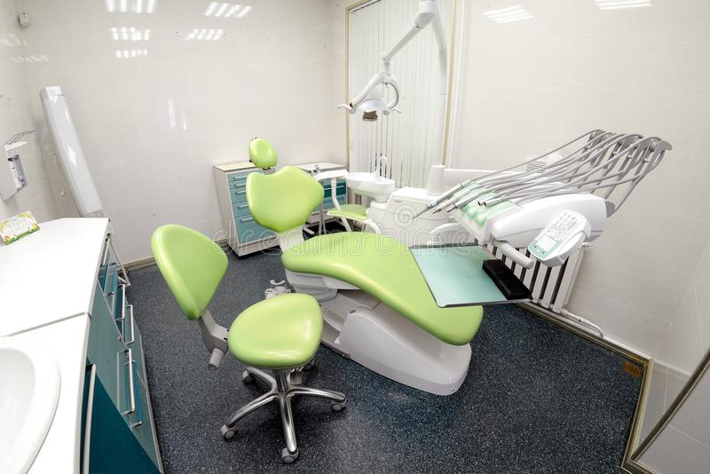 牙齿诊所口腔医学内部  免版税库存照片