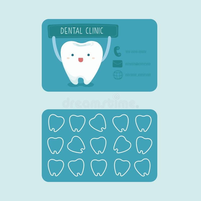 牙齿诊所名片  皇族释放例证