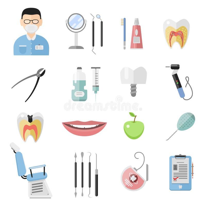 牙齿象传染媒介集合 库存例证