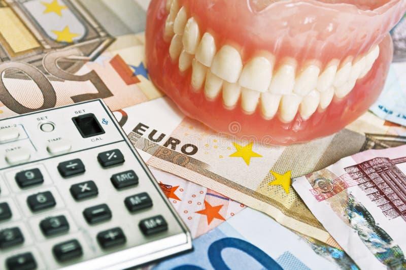 牙齿费用概念 库存照片