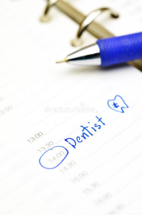 牙医任命 免版税库存照片