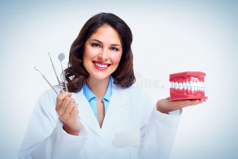 牙医妇女 免版税库存照片