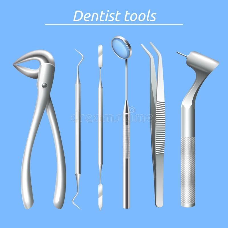 牙医工具箱 库存例证