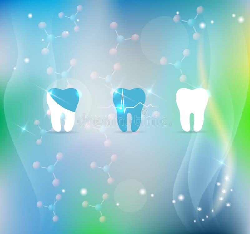 牙治疗标志背景 皇族释放例证