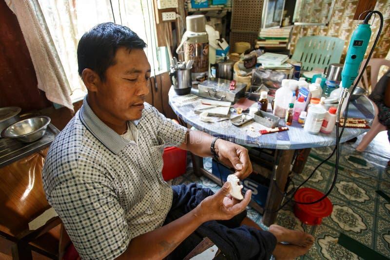 牙医, Falam,缅甸(缅甸) 免版税库存照片