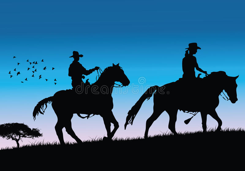 牛仔向量 皇族释放例证