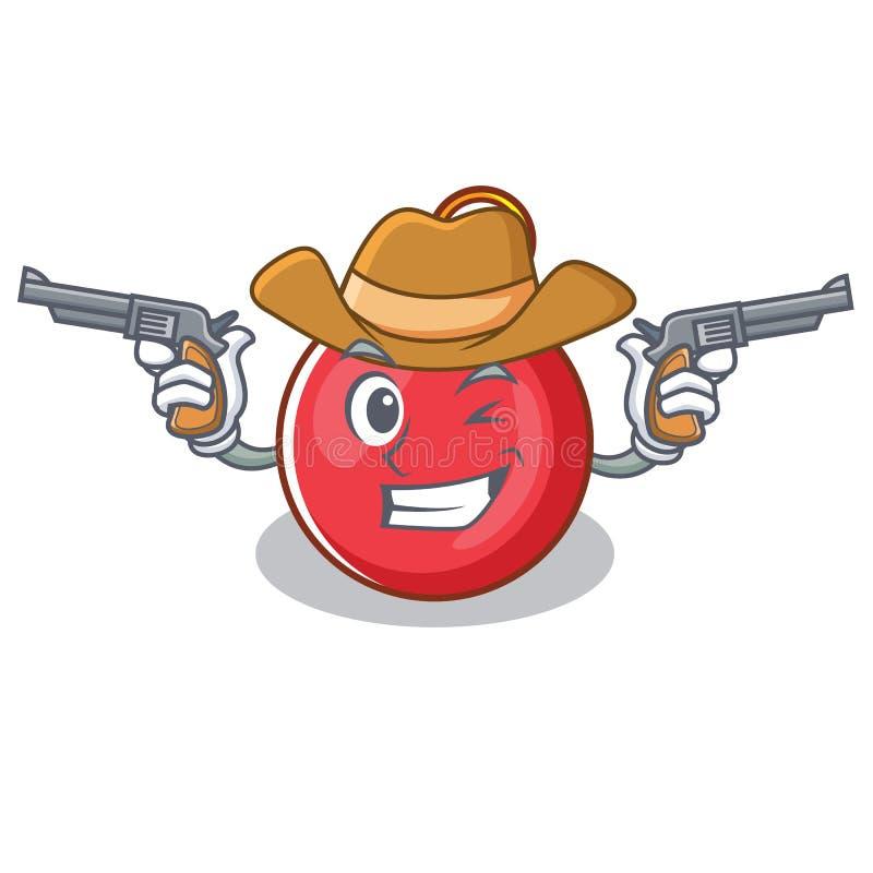 牛仔圣诞节球字符动画片 向量例证
