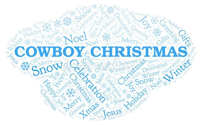 牛仔圣诞节词云彩 向量例证