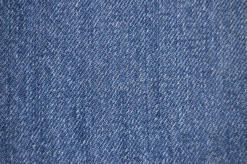 牛仔布织品纹理 免版税库存照片