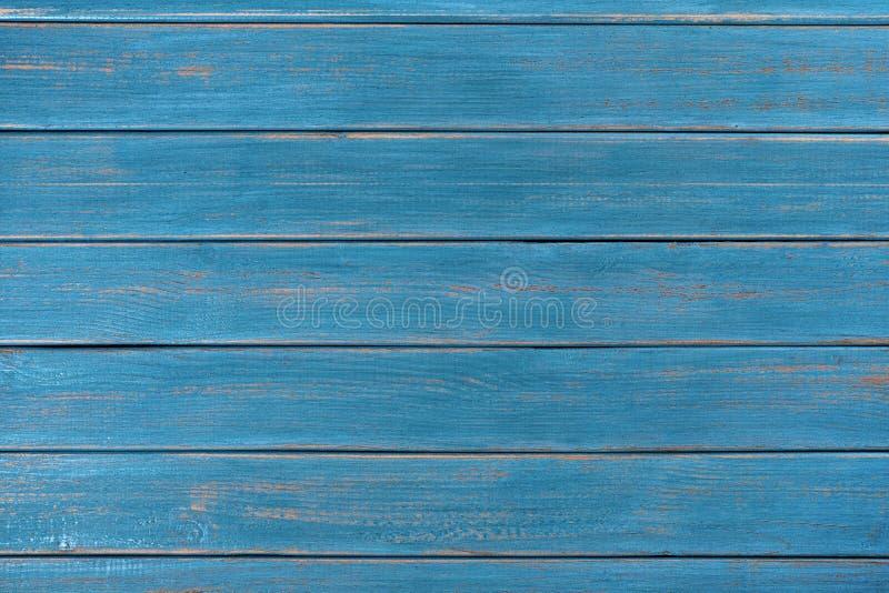 牛仔布蓝色木背景夏天海滩表面纹理 免版税图库摄影