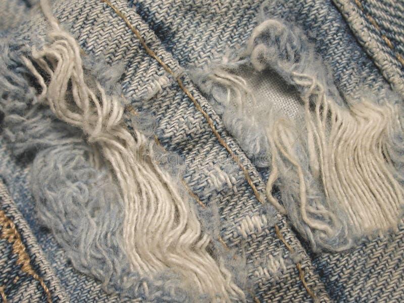 牛仔布被佩带的grunge纹理 免版税库存照片