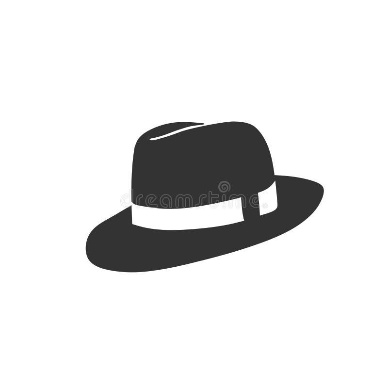 牛仔帽传染媒介商标 库存例证