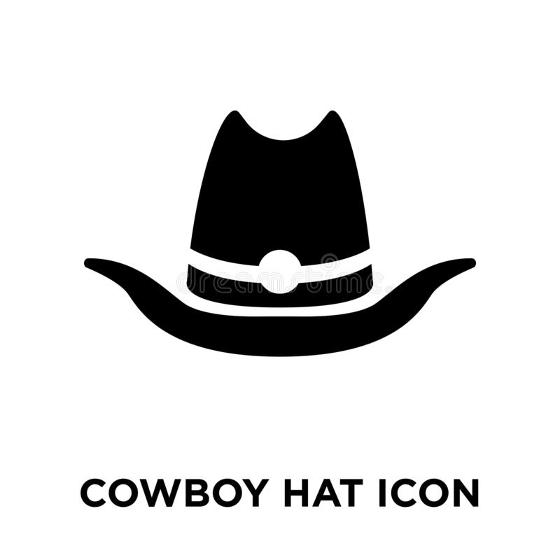 牛仔帽在白色背景隔绝的象传染媒介,商标concep 库存例证