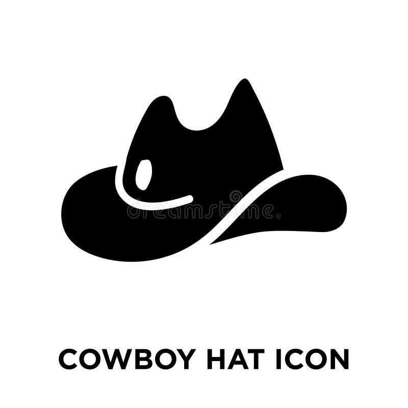 牛仔帽在白色背景隔绝的象传染媒介,商标concep 皇族释放例证