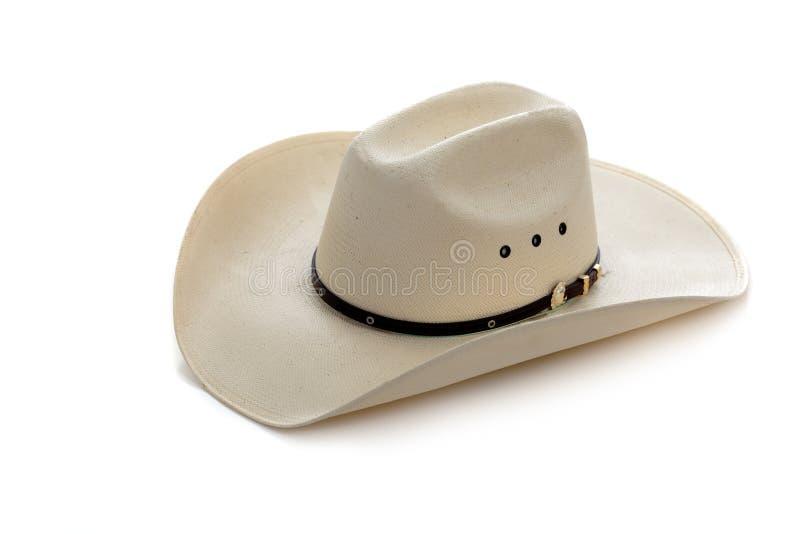 牛仔帽白色 库存图片