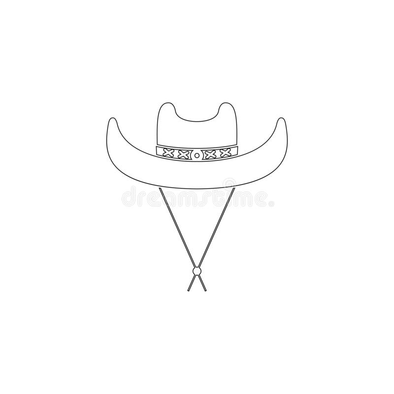 牛仔帽 平的传染媒介象 库存例证