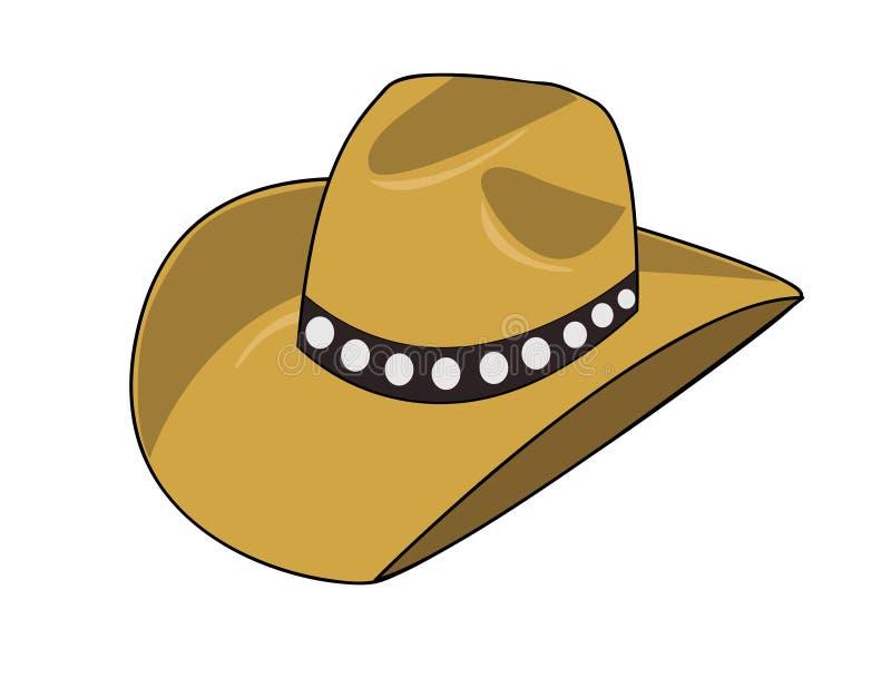 牛仔帽 皇族释放例证