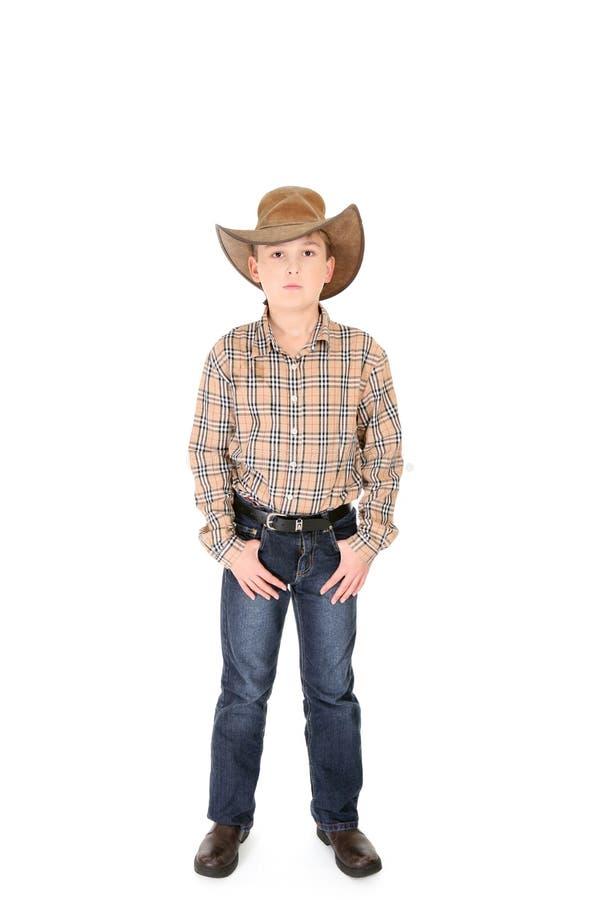 牛仔年轻人 免版税库存图片