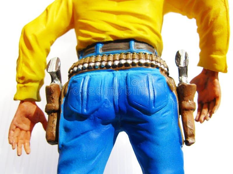 牛仔形象玩具 图库摄影