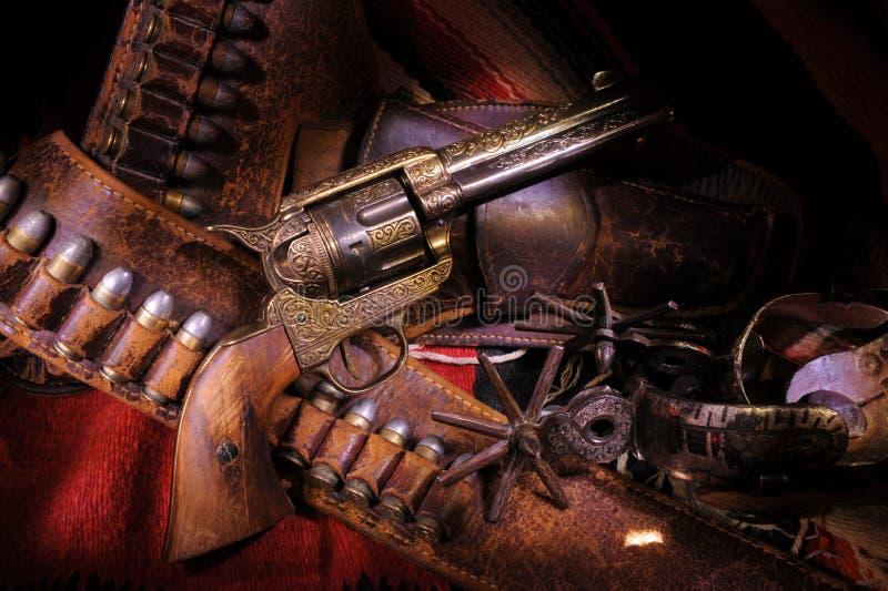 牛仔枪 免版税库存图片