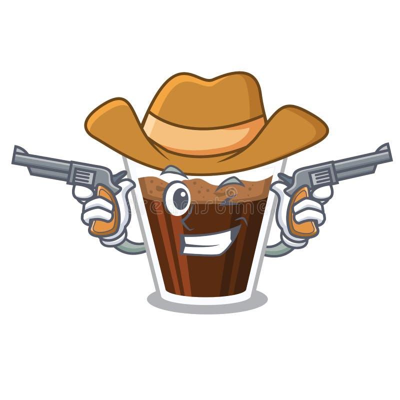 牛仔爱尔兰coffe隔绝与动画片 库存例证