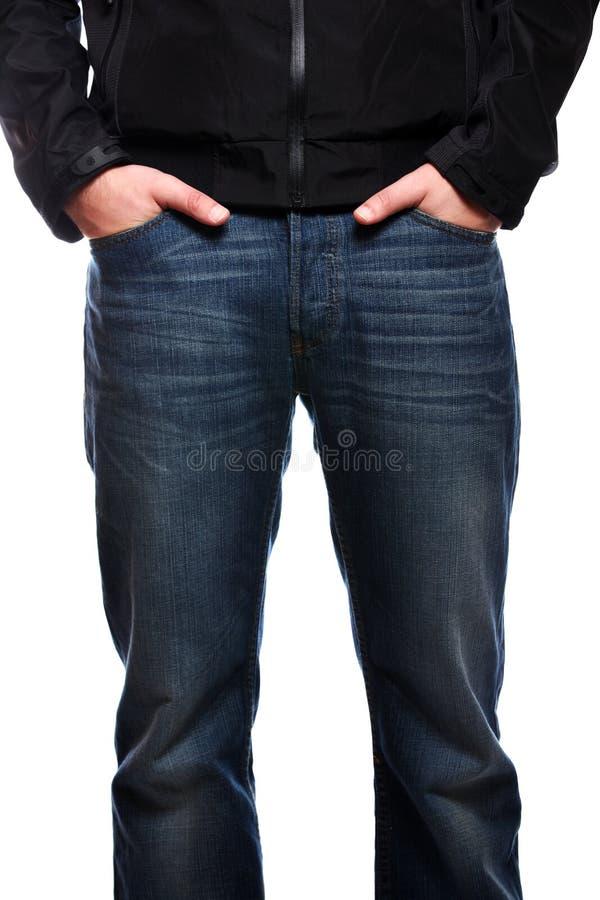 牛仔裤人 库存照片