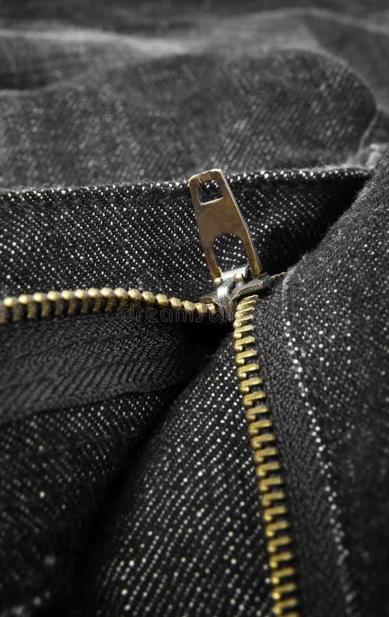 牛仔裤拉链 库存照片