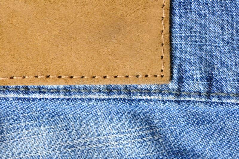 牛仔裤标签 库存照片