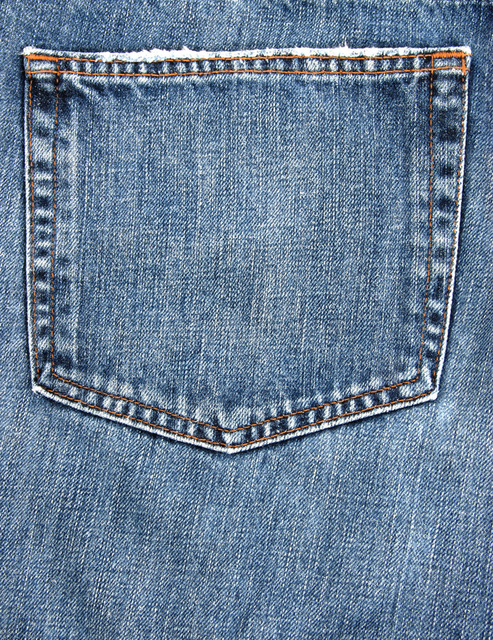 牛仔裤矿穴 库存图片