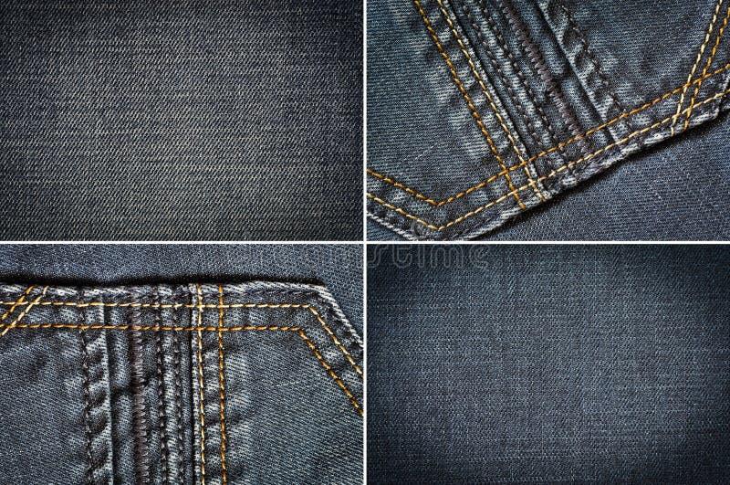 牛仔裤织品 库存照片