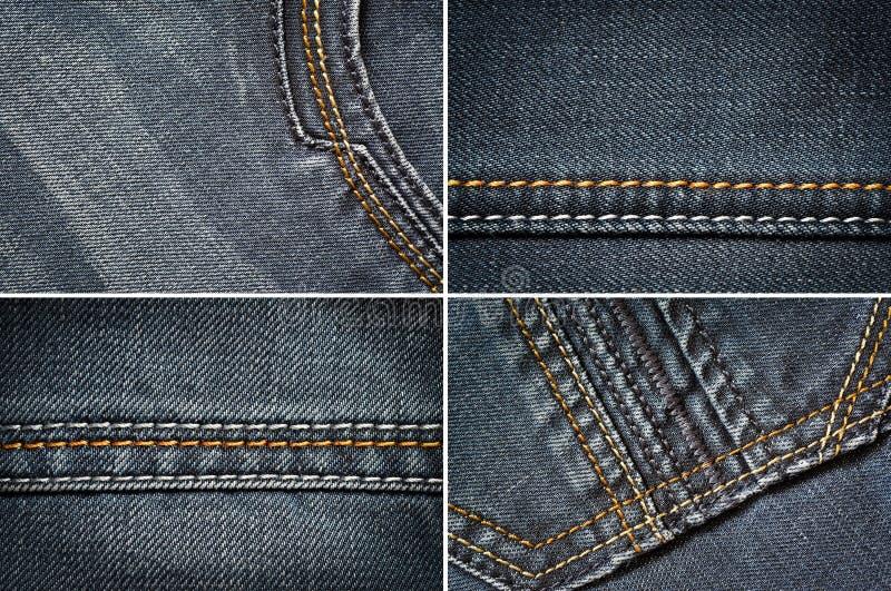 牛仔裤织品 图库摄影