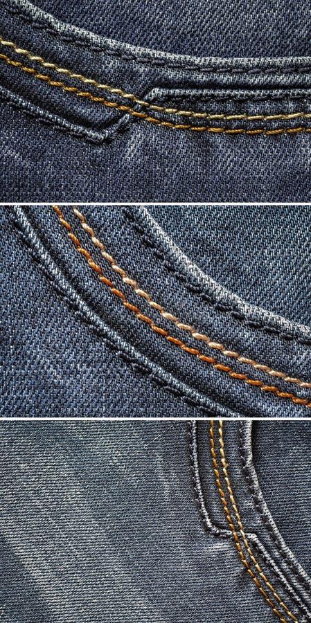 牛仔裤织品 库存图片