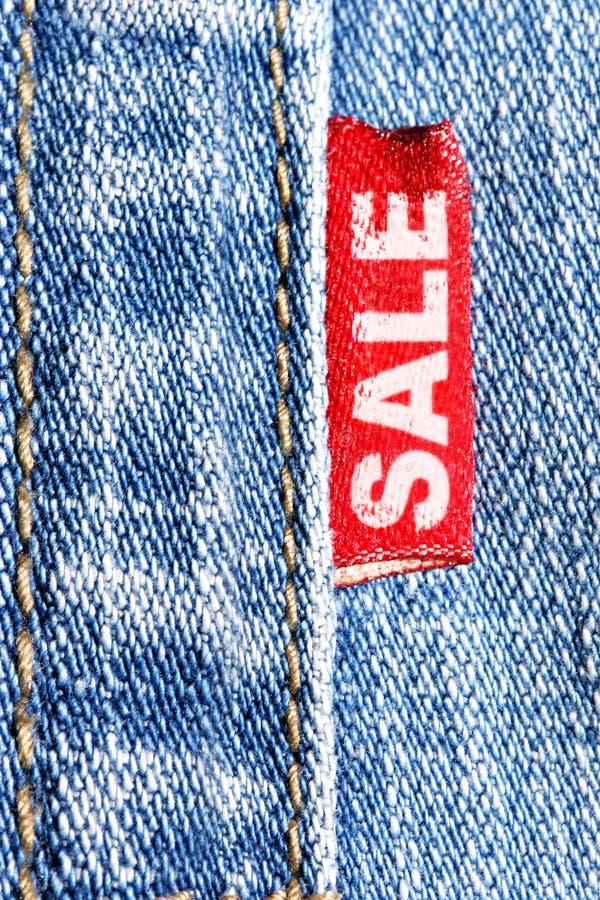 牛仔裤销售额 免版税库存照片