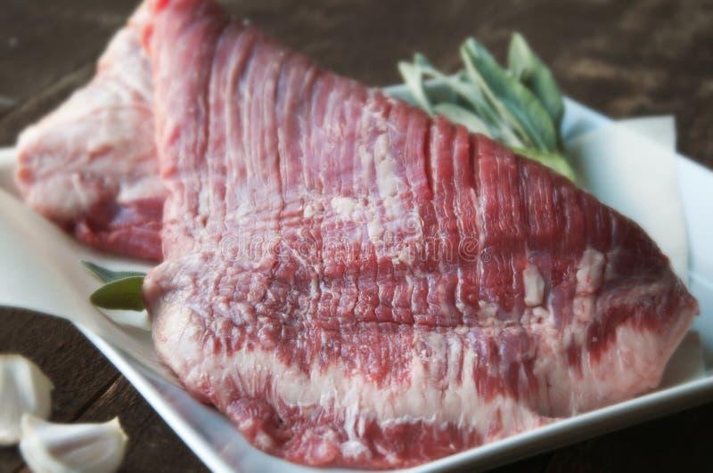牛后腹肉排 库存照片