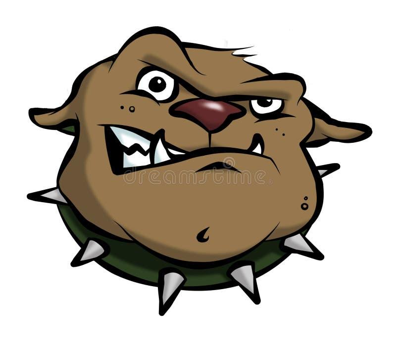 牛头犬动画片 库存照片