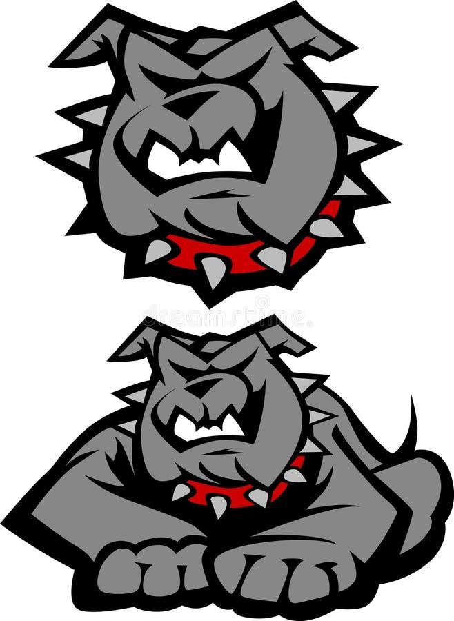 牛头犬徽标吉祥人向量 向量例证