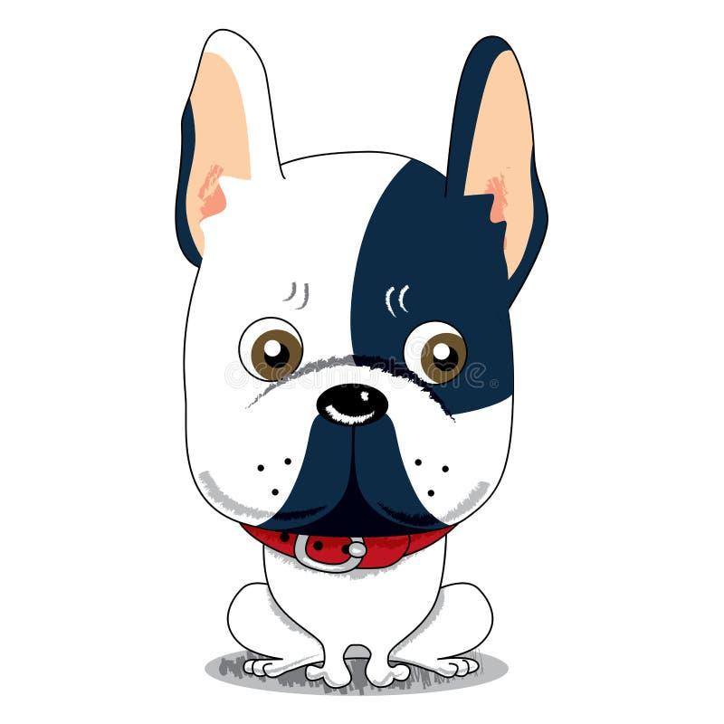 牛头犬逗人喜爱的法语 向量例证