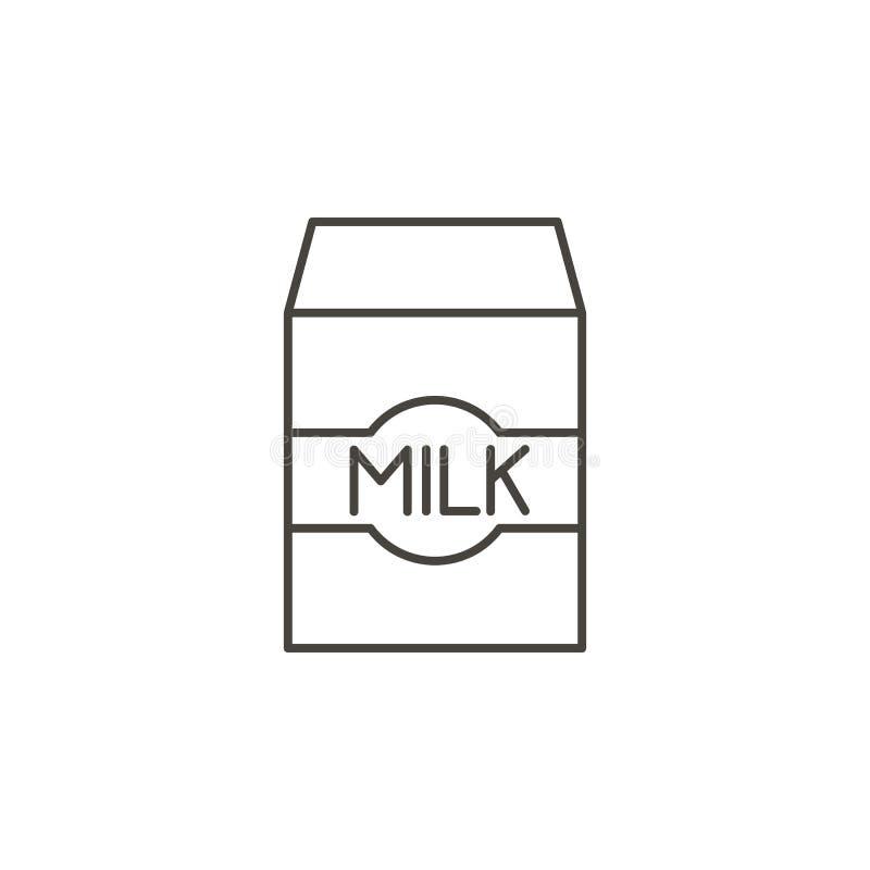 牛奶传染媒介象 从食物概念的简单的元素例证 牛奶传染媒介象 饮料概念传染媒介例证 皇族释放例证