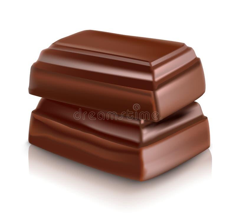 牛奶巧克力酒吧 库存例证