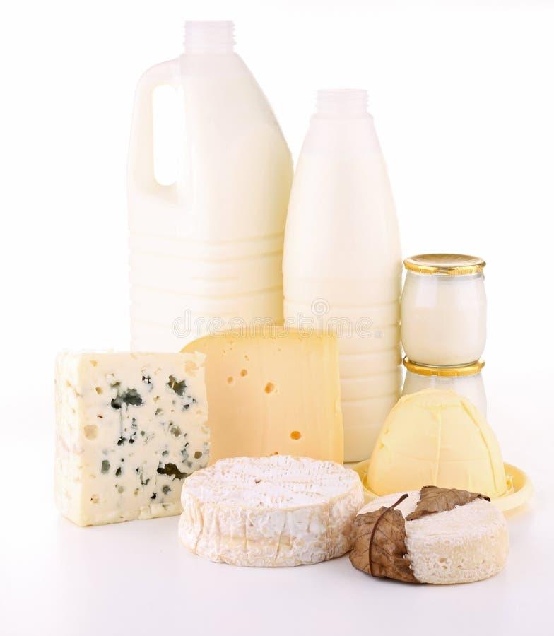牛奶店查出的产品 图库摄影