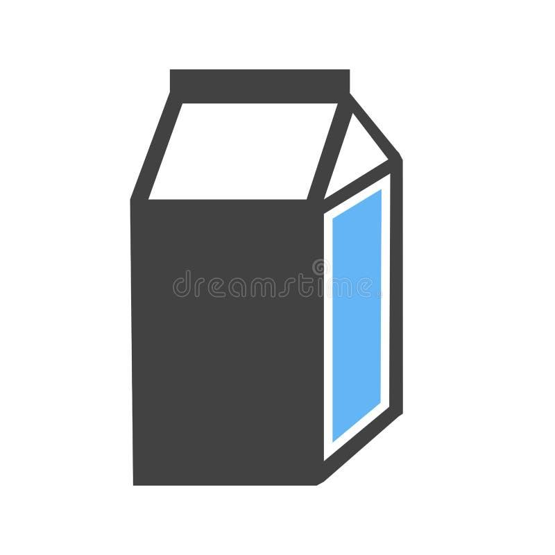 牛奶箱子象 皇族释放例证