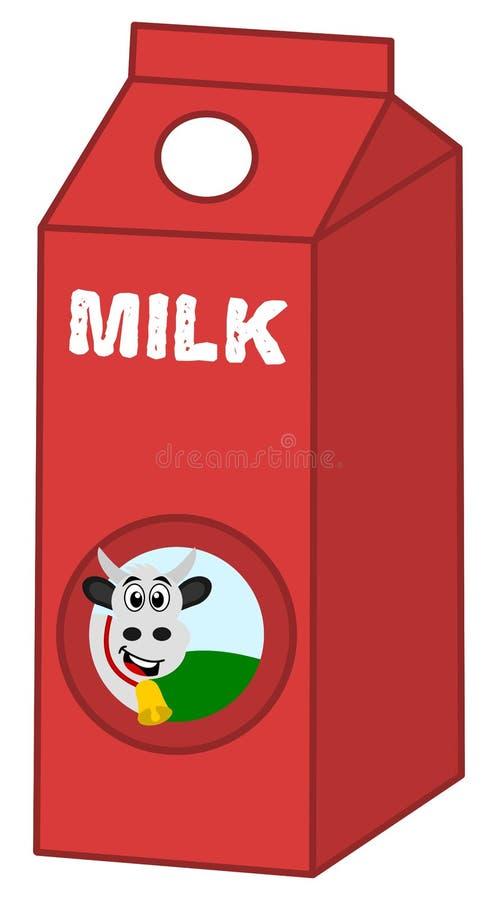 牛奶红色箱子 向量例证