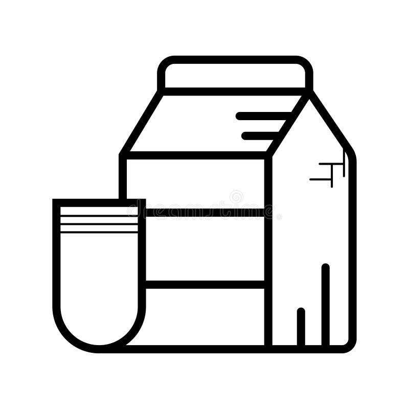 牛奶象传染媒介 向量例证