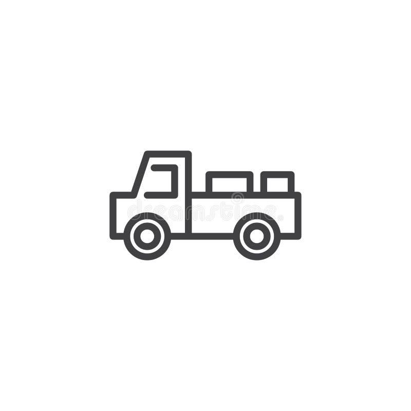 牛奶送货卡车线象 库存例证