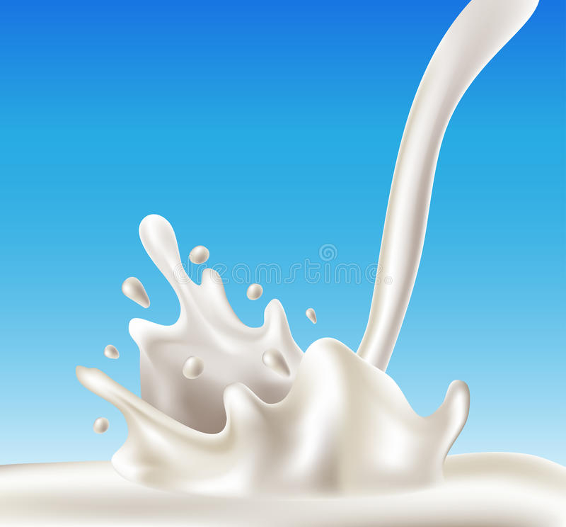 牛奶飞溅 库存例证