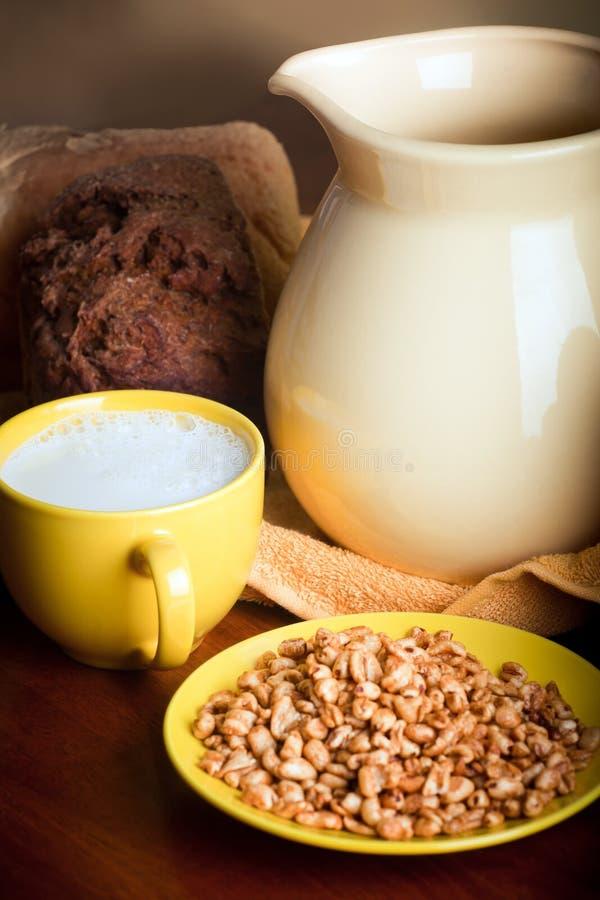 牛奶麦子 免版税图库摄影