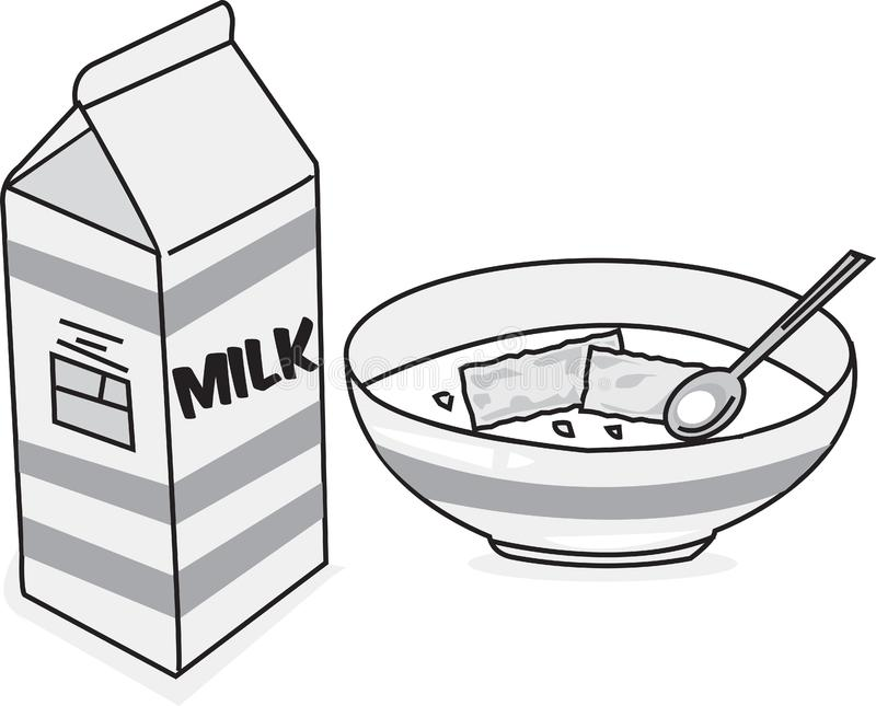 牛奶&谷物 库存图片